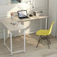 Merax L-Shaped Desk with Metal Legs Office Desk Corner Computer Desk, Multiple Colors