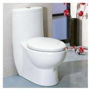EAGO Tall Dual Flush Elongated One-Piece Toilet