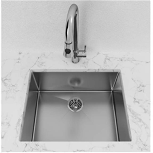 Stainless Steel Undermount Kitchen Sink | Cantrio Koncepts Kss 112 Single Bowl Stainless Steel Undermount