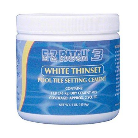 E-Z Patch 3 White Thinset Pool Tile Repair Cement 1 lb. By EZ