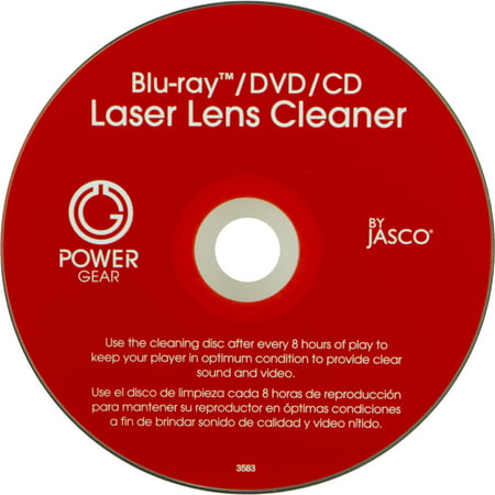 Power Gear Laser Lens Cleaner for CD, DVD & Blu-ray, 33628 Cd Rom Cleaner