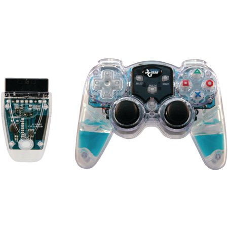 Dreamgear DGPN-524 Playstation2 Lava Glow Wireless Controller (Blue Analog Controller)