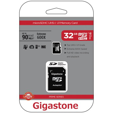 Gigastone GS-2IN1600X32GB-R Prime Series microSD Card with Adapter