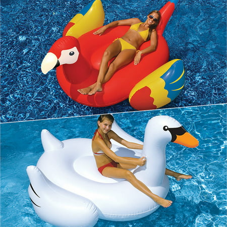Swimline Giant Swan and Parrot Floats for Swimming Pools