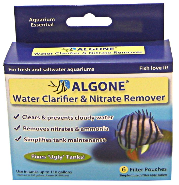 ALGONE - Water Clarifier and Nitrate Remover Small - 6 Filter Pouches