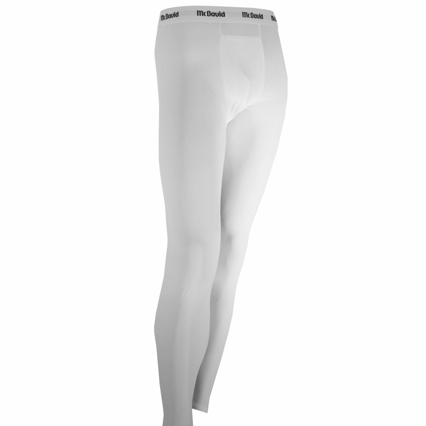 McDavid Classic Logo MD 715 Basic Full Length Compression Pants White Large