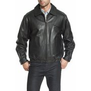 BGSD Men's Aaron Classic Cowhide Leather Bomber Jacket (Regular & Tall sizes)