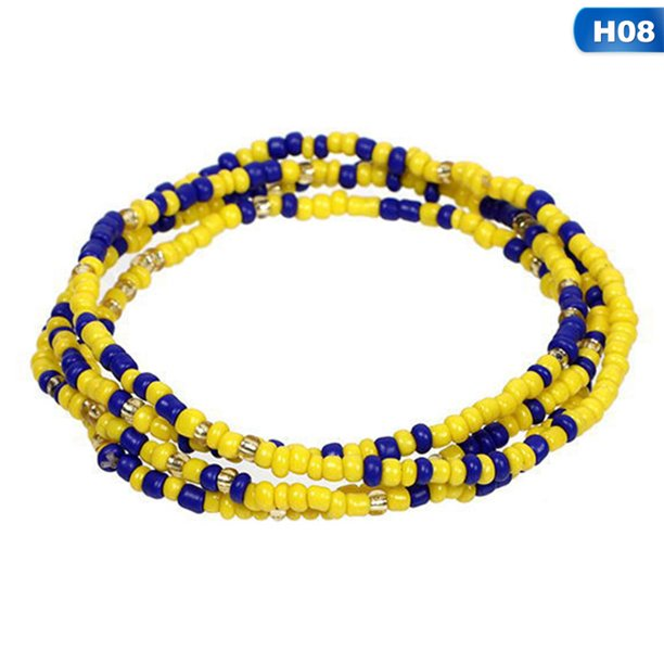 Shiyao Shiyao Waist Beads For Women Colorful African Waist Beads Body Belly Waist Chain Summer Bikini Jewelry For Woman Girl Walmart Com Walmart Com