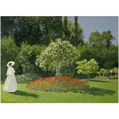 "Trademark Fine Art ""Jeanne Marie Lecadre in the Garden"" Canvas Art by Claude Monet"