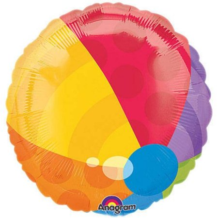 Beach Ball Mylar Balloon
