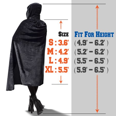 Strong Camel Halloween Cloak Cosplay Costume Witch Hooded Robe Party Long Fancy Dress 4 Sizes for Choice (Thrasher Halloween Hellride 4)