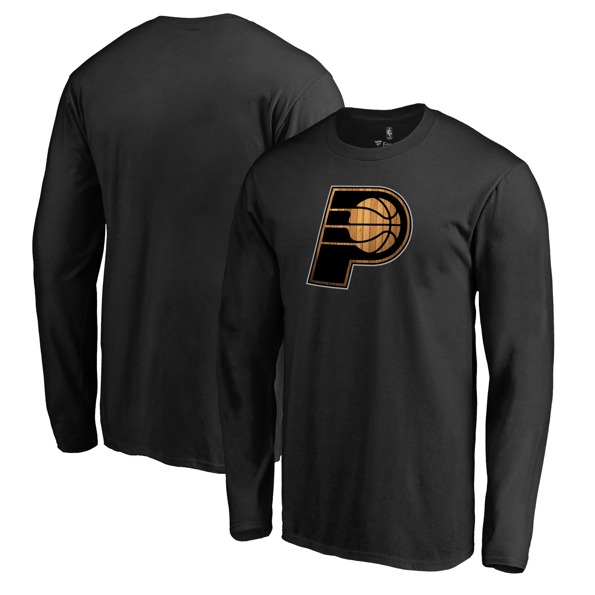Indiana Pacers Fanatics Branded Hardwood Big & Tall Long Sleeve T-Shirt - Black