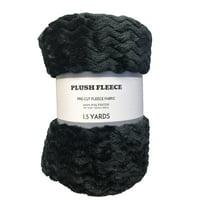 Fabric Cut Fleece Chevron Black 1.5 yards