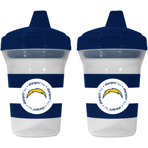 Baby Fanatic San Diego Chargers 2-Pack Sippy Cup, BPA-Free