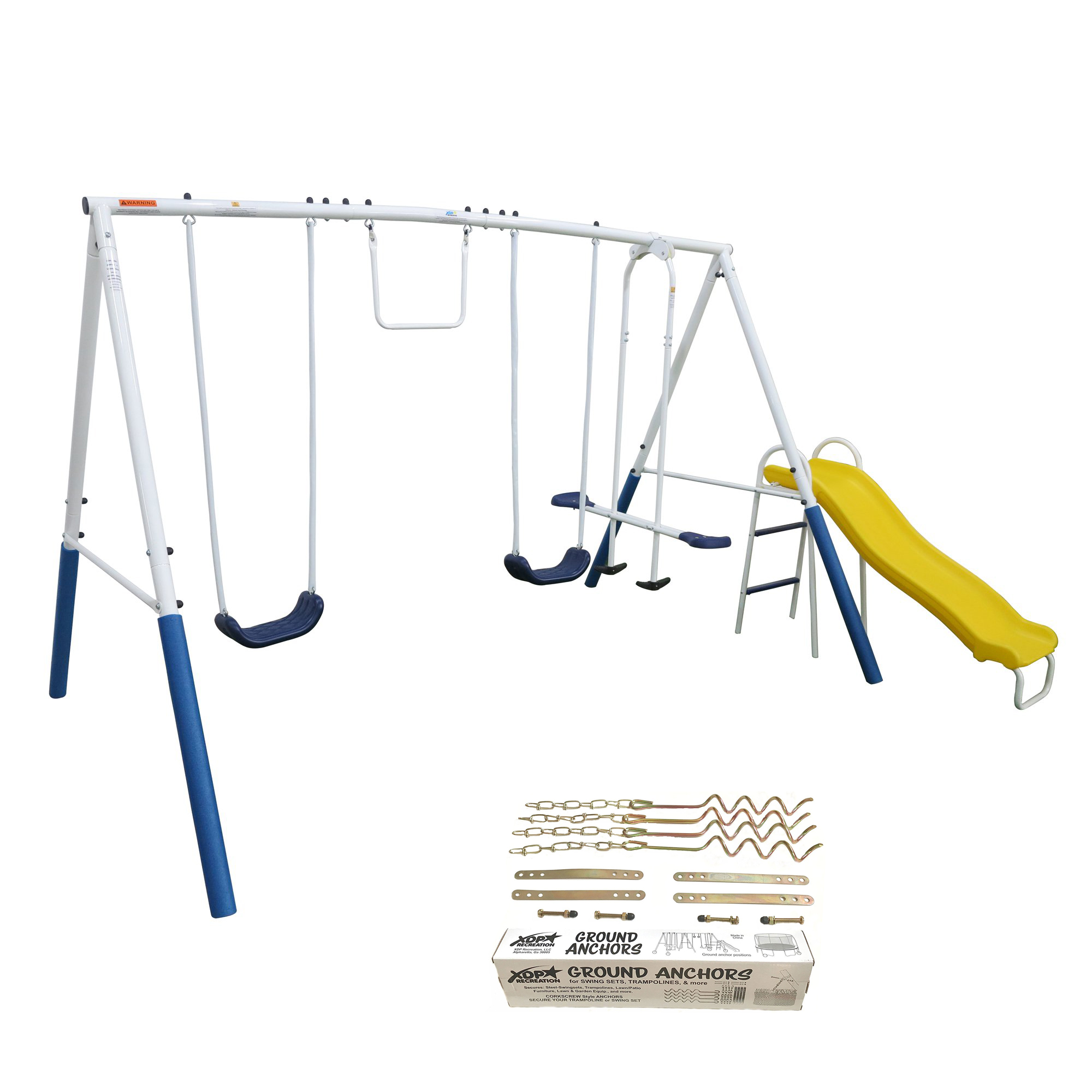 Xdp Recreation Blue Ridge Outdoor Backyard Kids Swing Set W Slide