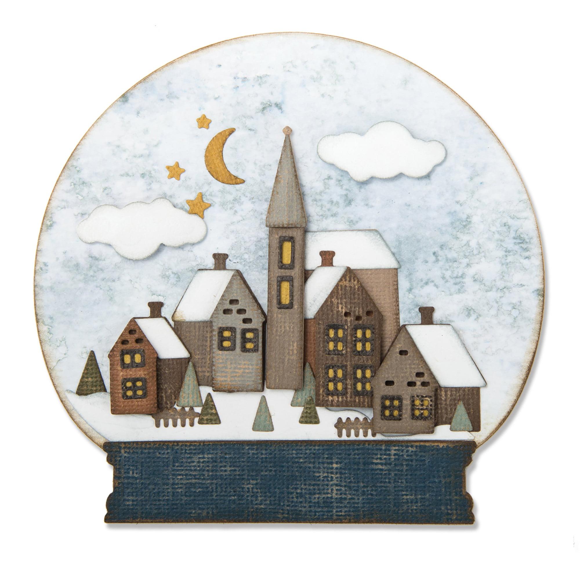 Sizzix Thinlits Dies - Snowglobe #2 by Tim Holtz