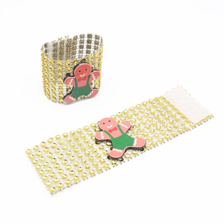 LeKing 9PCS Christmas Napkin Rings Santa Serviette Buckles Holders for Dining Table Holiday Decorations - image 8 of 9