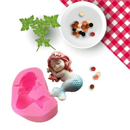 KABOER 1X 3D Fish Baby Silicone Mould Chocolate Fondant Cake Soap Paste Clay Resin Mold (Food Safe Clay Molds)