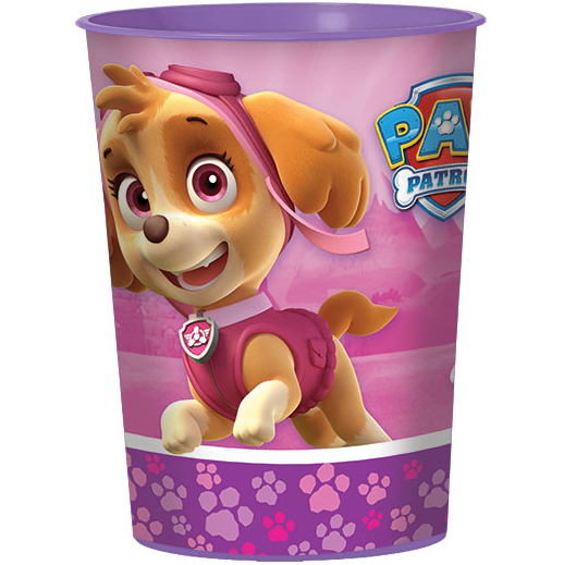 Pink Paw Patrol Girl 16oz Favor Cup