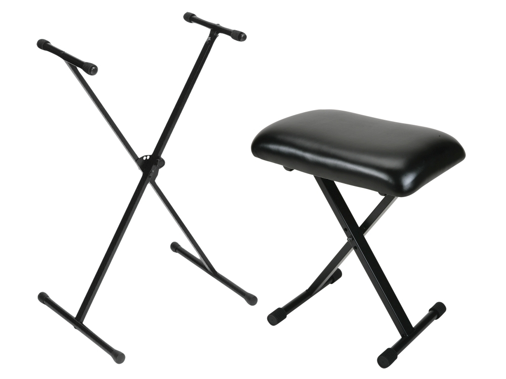 On-Stage Stands Padded Keyboard Bench With Single-Braced Stand Combo by On-Stage Stands