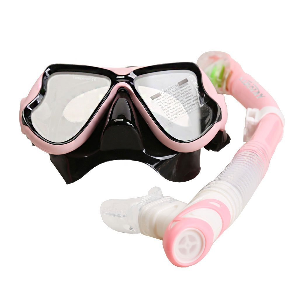 EpicGadget Scuba Snorkeling Mask Snorkel Set for Adults, Diving Mask Goggles Mask Swimming Mask and Snorkel Set,... by