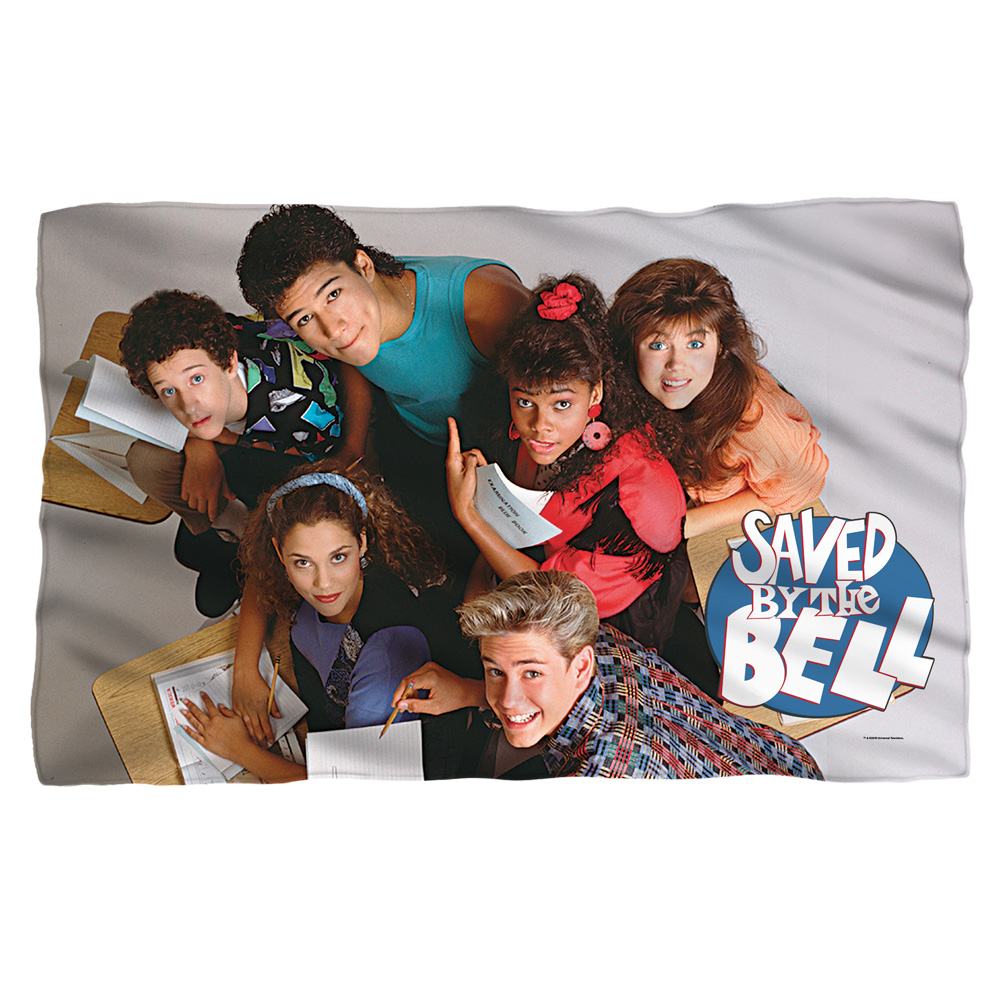 Saved By The Bell Group Shot Fleece Blanket White One Size