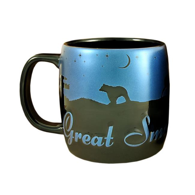 Americaware SMSMT03 Smoky Mountains 22 oz Night Sky Silhouette Mug