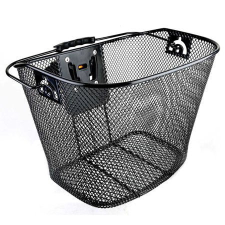 Bicycle Bike Front Basket Wicker with Quick Release ()