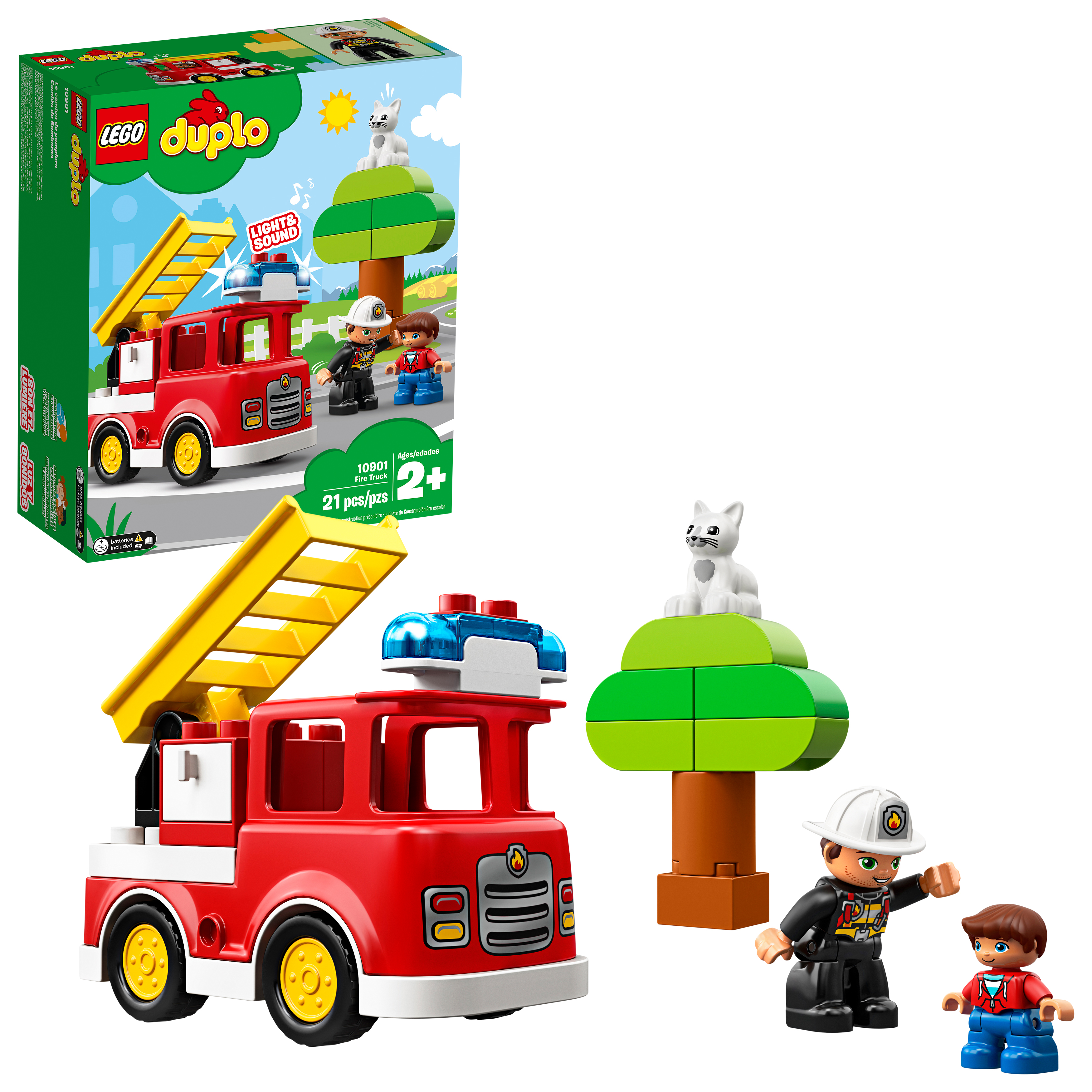 LEGO DUPLO Town Fire Truck 10901 Preschool Building Set