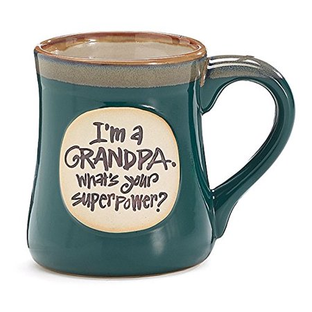 Burton & Burton Superpower Grandpa Message Mug