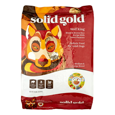 Solid Gold Wolf King Bison & Brown Rice Medium/Large Breed Dry Dog Food, 24
