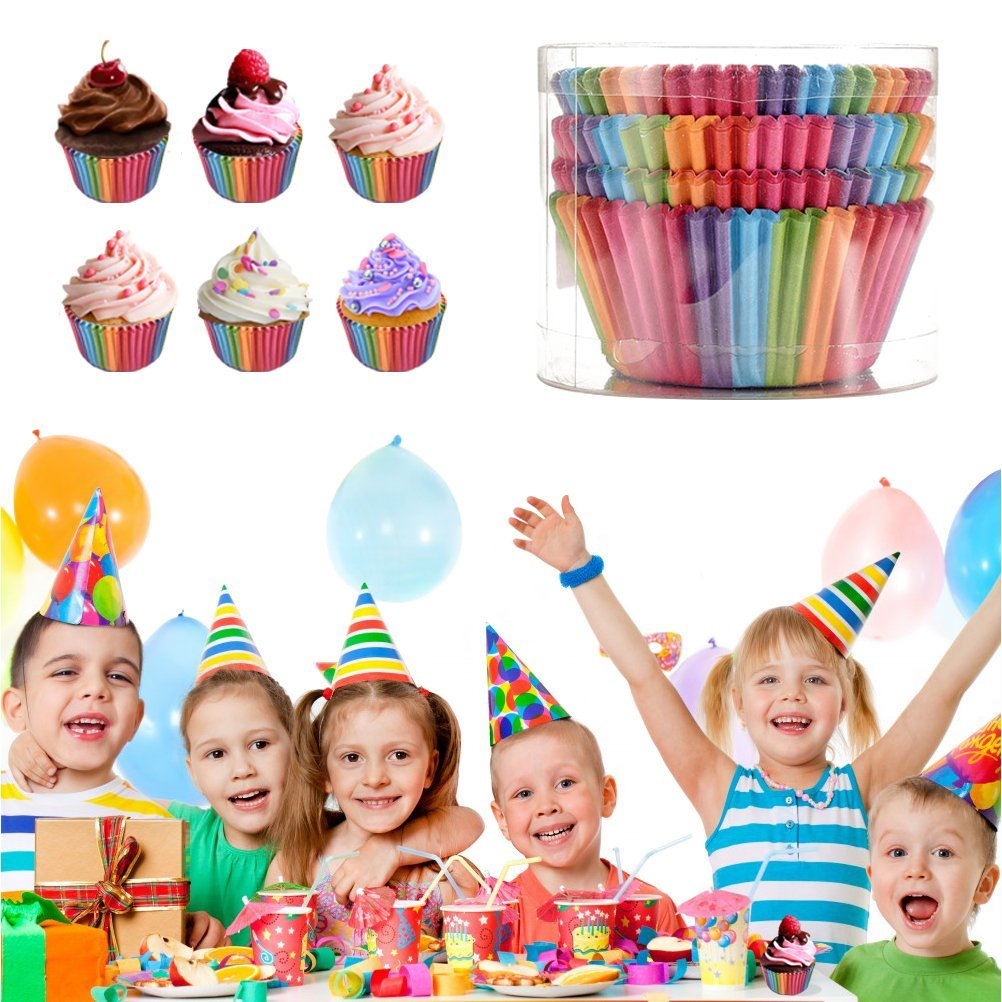 300 Pcs Cupcake Liners Paper Baking Cups for Holiday,Regular Size