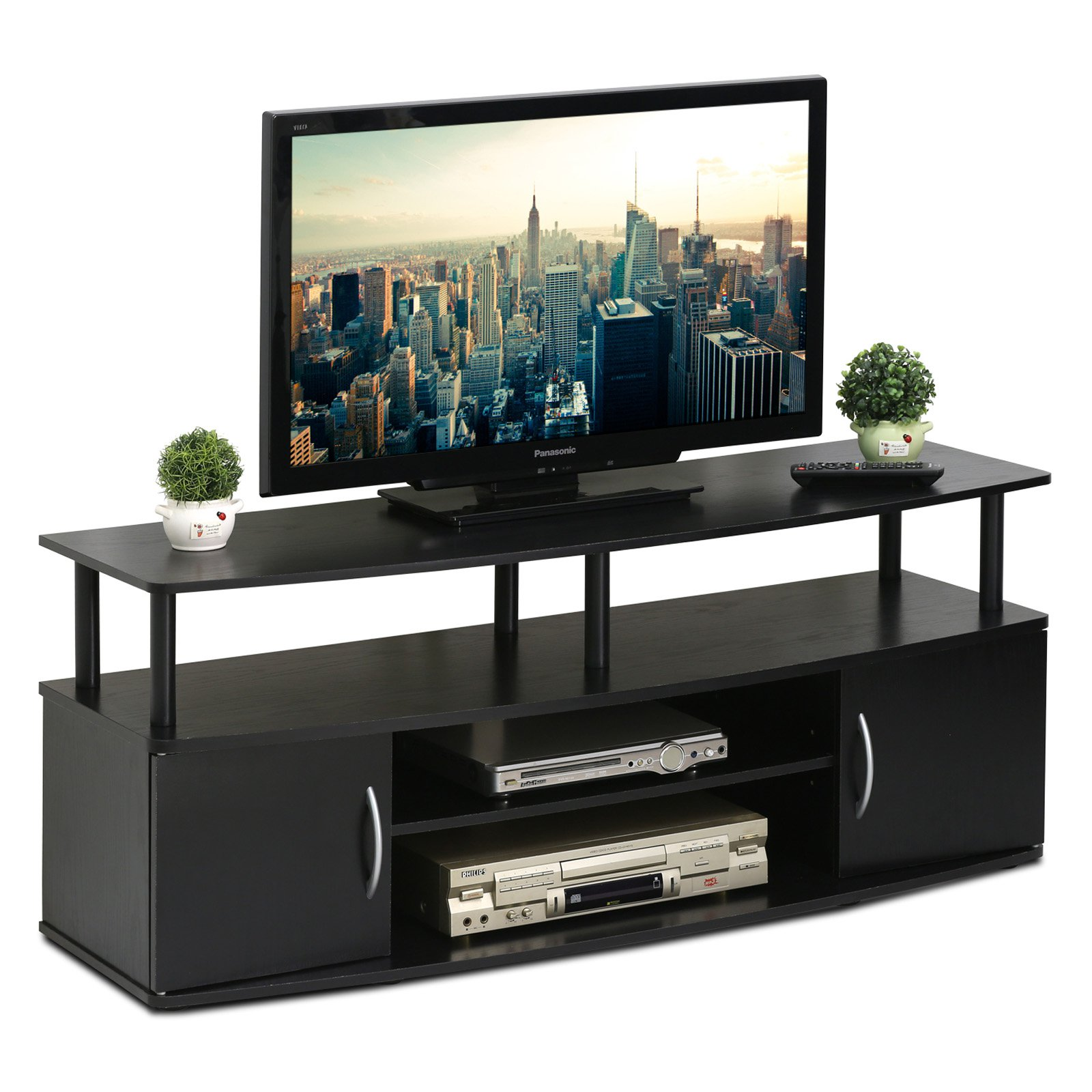 "Furinno JAYA Large Entertainment Center Hold up to 50"" TV, 15113BKW"