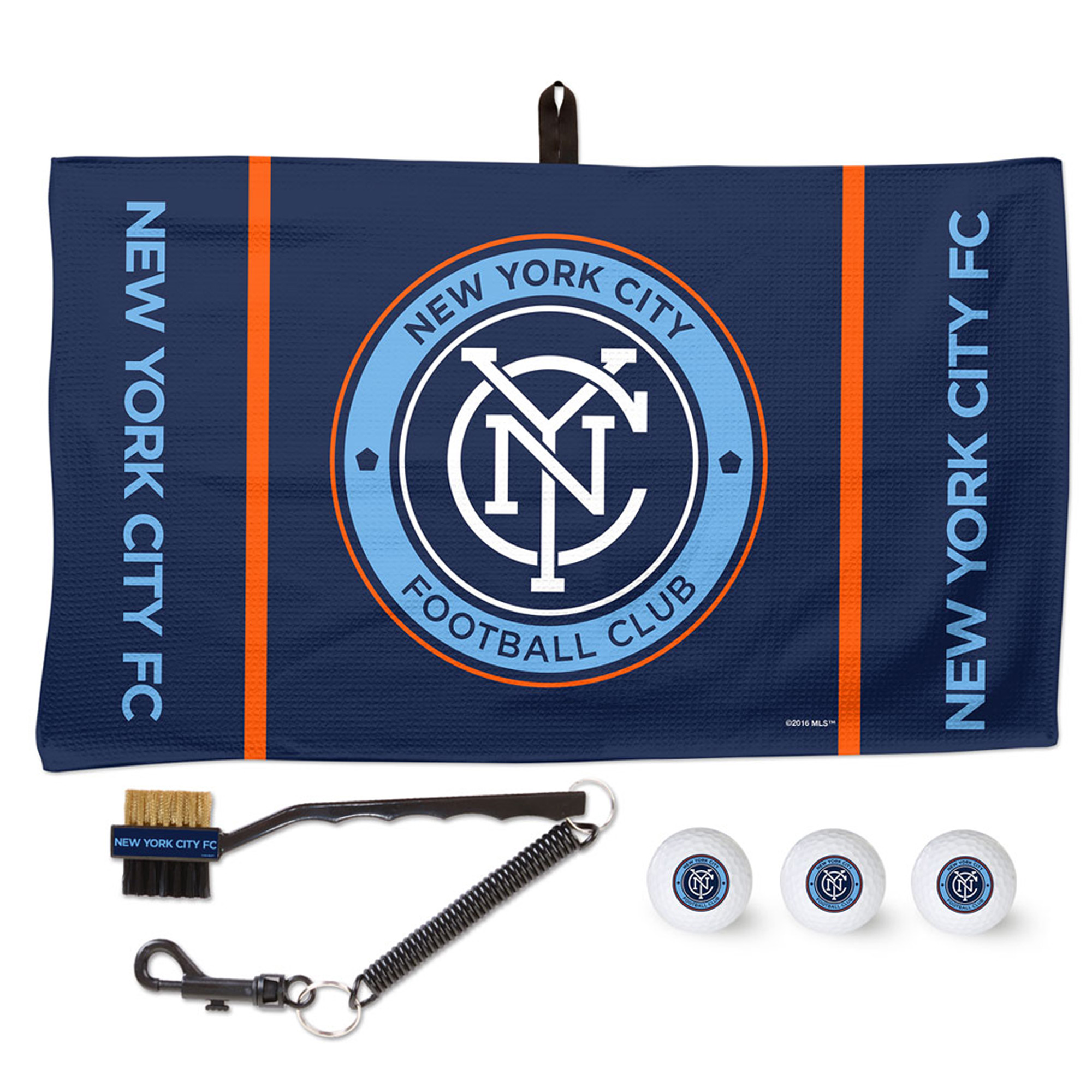 New York City FC WinCraft Golf Ball, Towel & Brush Gift Set - No Size