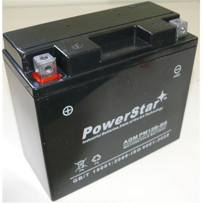 batteryjack pm12b-bs-131 powerstar gel ut12b - 4 yt12b - bs 12 v battery for yamaha yzf r6 r1 1999, 2000, 2001, 2002