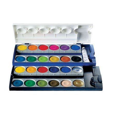 Pelikan Watercolor Paint Box - Opaque - 24 Colors