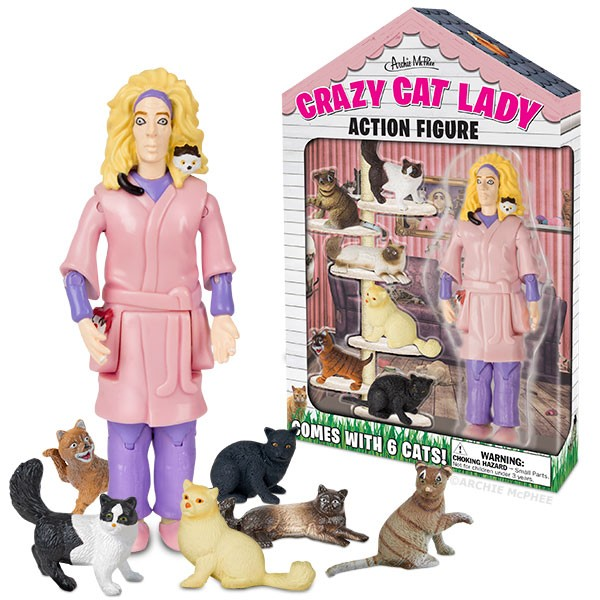 "Crazy Cat Lady 6"" Vinyl Action Figure by Accoutrements"