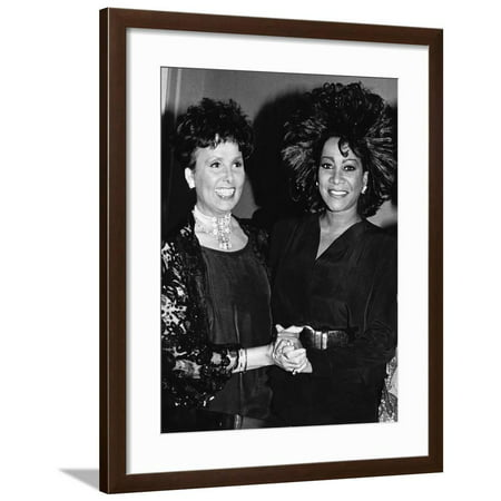 Patti Labelle, Lena Horne,  April 11, 1988 Framed Print Wall Art By Maurice Sorrell