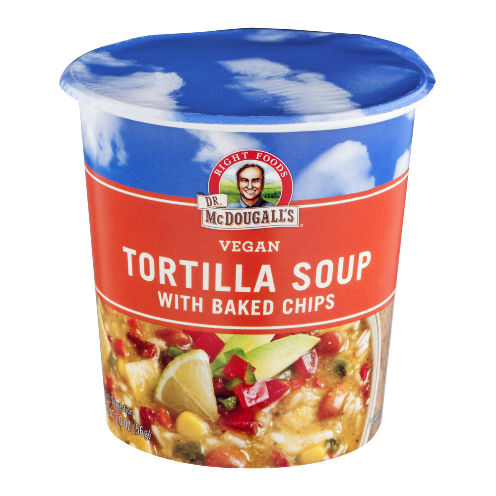 Dr. McDougall's Vegan Tortilla Soup With Baked Chips, 2.0 OZ
