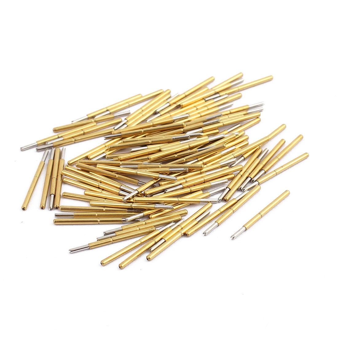 100pcs P75-Q1 1.0mm Dia 16mm Length Metal Spring Pressure Test Probe Needle