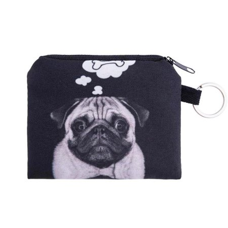 Girl printing coins change purse Clutch zipper zero wallet phone key bags BK