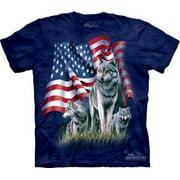 Wolf Flag Adult T-Shirt - 101002