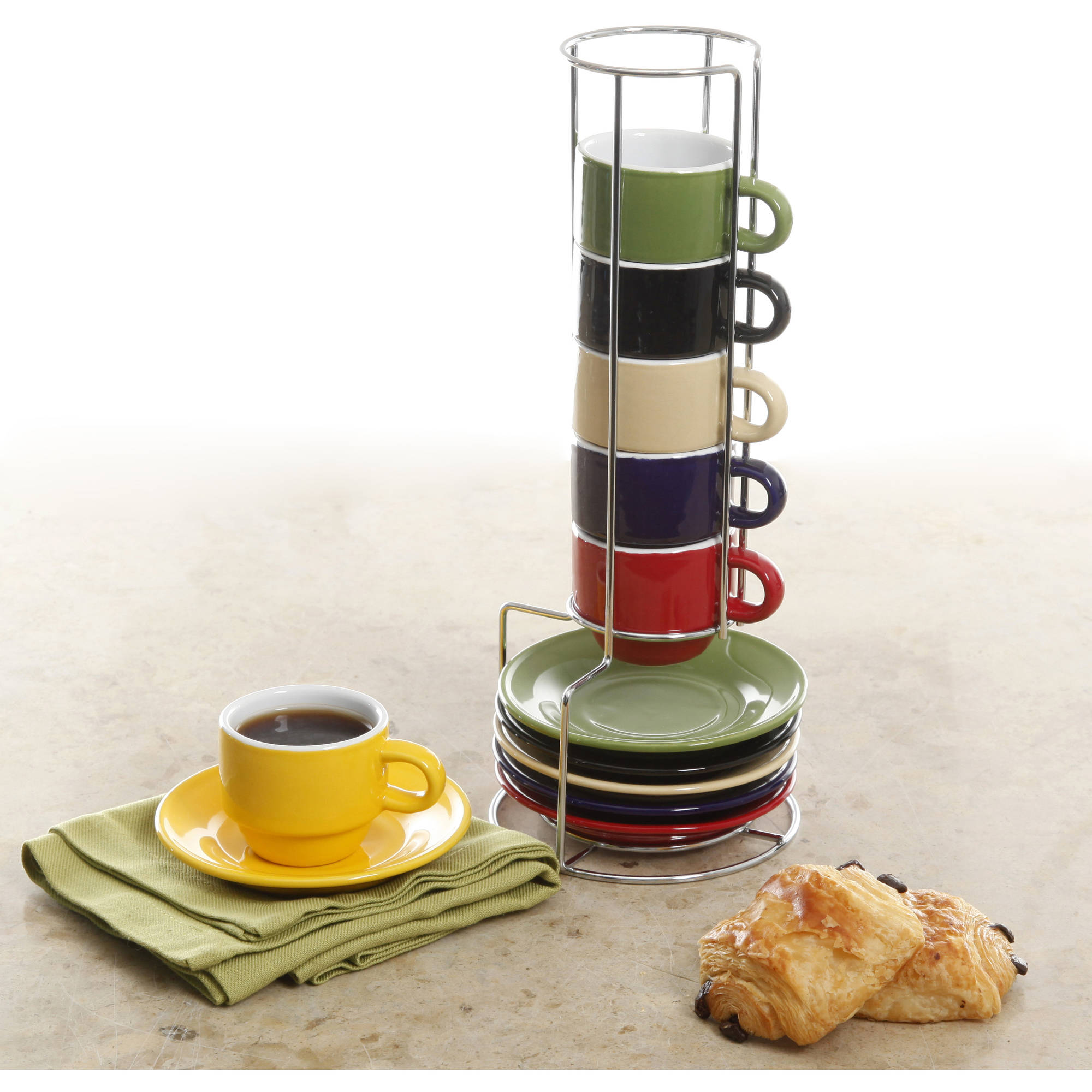 Gibson Home Jubilee 13-Piece Espresso Set With Caddy