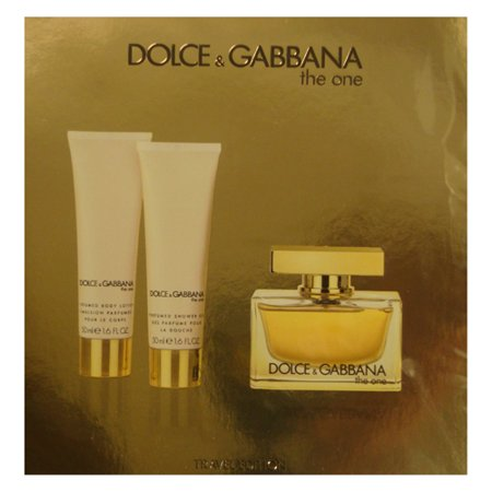 D&G THE ONE Women 3 Piece Gift Set - 2.5 oz EDP SPRAY by DOLCE &