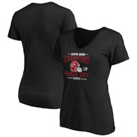 Kansas City Chiefs NFL Pro Line by Fanatics Branded Women's Super Bowl LIV Champions Punt Return V-Neck T-Shirt - Black