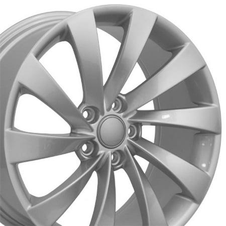 OE Wheels 18 Inch  VW CC Style Fits: Volkswagen GTI Jetta EOS CC Tiguan Rabbit Passat Golf Beetle | VW17 Painted Silver 18x8 Rim Hollander 69890