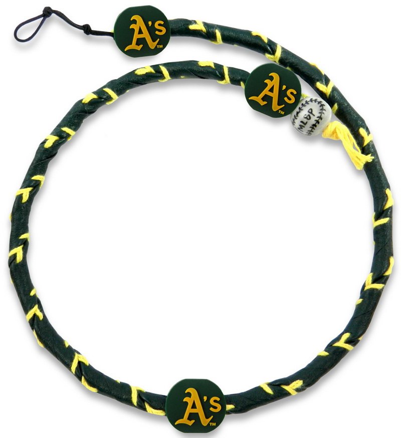 Gamewear Oakland Athletics Team Color Frozen Rope Baseball Necklace