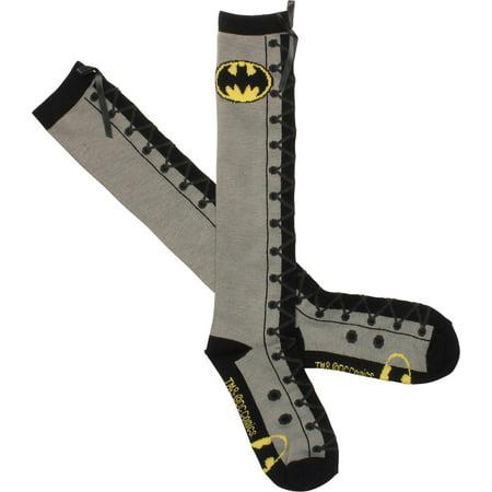 Batman Tights (Batman Faux Lace Up Knee High)