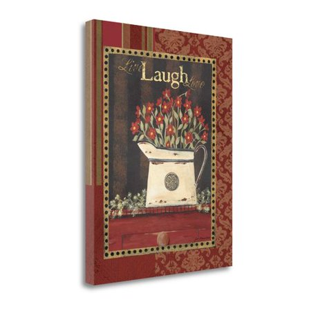 Tangletown Fine Art Live Laugh Love By Jo Moulton Graphic Art On Wrapped Canvas