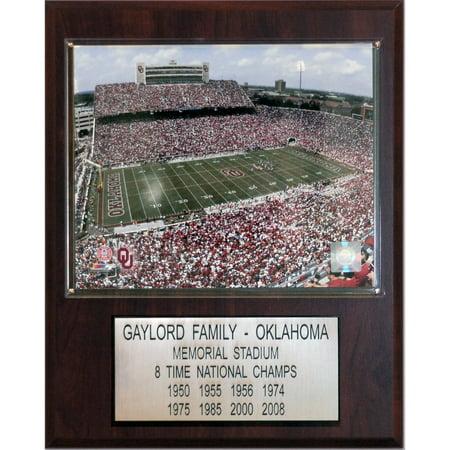C&I Collectables NCAA Football 12x15 Oklahoma Memorial Stadium Stadium Plaque ()